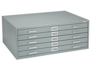 Safco 4994GRR Five-Drawer Steel Flat File, 40-3/8w x 29-3/8d x 16-1/2h, Gray
