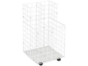 Safco 3084 Wire Roll Files, 4 Compartments, 16-1/4w x 16-1/2d x 30-1/2h, White