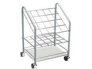 Safco                                    Wire Roll/File, 20 Compartments, 18-1/3w x 14-1/4d x 23-3/8h, Gray