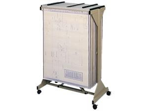 Safco 5060 Sheet File Mobile Plan Center, 18 Hanging Clamps, 43-3/4w x 20-1/2d x 51h, Sand