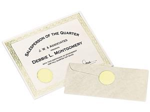 "Inkjet Print or Write Notarial Seals, 2"" Diameter, Gold, 44/Pack"