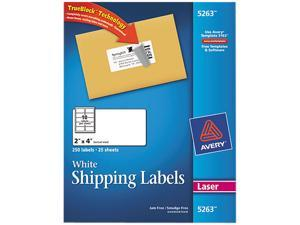 Avery 5263 Shipping Labels with TrueBlock Technology, 2 x 4, White, 250/Pack
