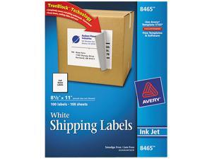 Avery 8465 Shipping Labels with TrueBlock Technology, 8-1/2 x 11, 100/Box