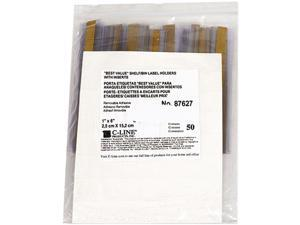 C-line 87627 Label Holders, Top Load, 6 x 1, Clear, 50/Pack
