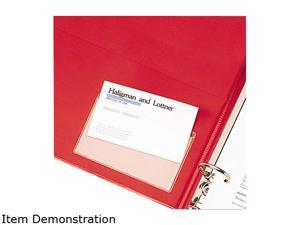 Cardinal 21500 HOLDit! Poly Business Card Holders, Top Load, 3-3/4 x 2-3/8, Clear, 10/Pack
