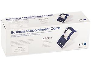 Seiko SLP-FCS2 Business/Appointment Cards, 2-1/4 x 3-1/2, White, 600/Box