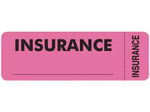 Tabbies 06420 Medical Labels for Insurance, 1 x 3, Fluorescent Pink, 250/Roll