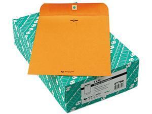 Quality Park 37790 Clasp Envelope, 9 x 12, 32lb, Light Brown, 100/Box