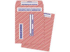 Quality Park 63778 Gray/Red Paper Gummed Flap Confidential Interoffice Envelope, 10 x 13, 100/Box