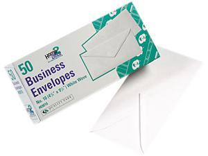 Quality Park 69016 White Wove Business Envelope Convenience Packs, V-Flap, #10, 50/Box