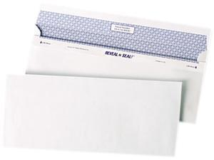 Quality Park 67218 Reveal-N-Seal Business Envelope, Contemporary, #10, White, 500/Box