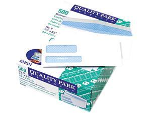 Quality Park™                            Double Window Security Tinted Invoice & Check Envelope, #9, White, 500/Box
