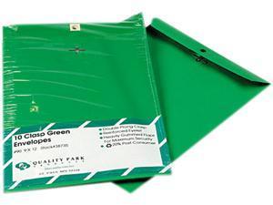 Quality Park 38735 Fashion Color Clasp Envelope, 9 x 12, 28lb, Green, 10/Pack
