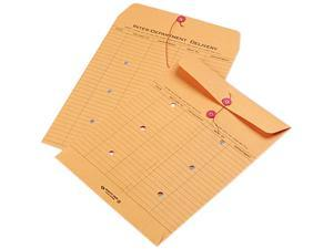 Quality Park 63560 Brown Recycled Kraft String & Button Interoffice Envelope, 10 x 13, 100/Carton