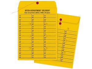 Quality Park™                            Brown Kraft String & Button Box-Style Interoffice Envelope, 10 x 13, 100/Box