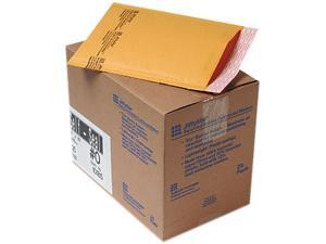 Sealed Air 10185 Jiffylite Self-Seal Mailer, Side Seam, #0, 6 x 10, Golden Brown, 25/Carton