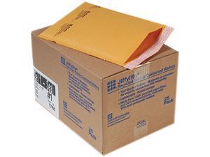 Sealed Air 10186 Jiffylite Self-Seal Mailer, Side Seam, #1, 7 1/4 x 12, Golden Brown, 25/Carton