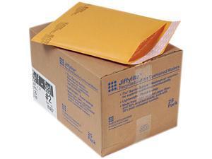 Sealed Air 10187 Jiffylite Self-Seal Mailer, Side Seam, #2, 8 1/2 x 12, Golden Brown, 25/Carton