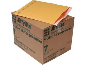 Sealed Air 39098 Jiffylite Self-Seal Mailer, Side Seam, #7, 14 1/4 x 20, Golden Brown, 50/Carton