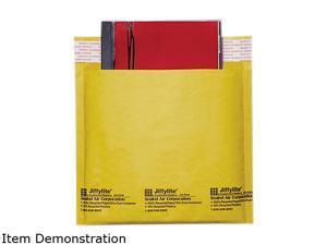 Sealed Air 44169 Jiffylite CD/DVD Self-Seal Mailer, Side Seam, 7 1/4 x 8, Light Brown, 25/Carton