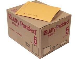 Sealed Air 49275 Jiffy Padded Mailer, Side Seam, #5, 10 1/2 x 16, Golden Brown, 100/Carton