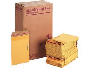 Sealed Air 49380 Jiffy Rigi Bag Mailer, Side Seam, #1, 7 1/4 x 12, Golden Brown, 250/Carton