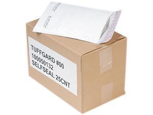 Sealed Air 49677 Jiffy TuffGard Self-Seal Cushioned Mailer, Side Seam, #00, 5x10, WE, 25/Carton