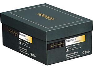 Southworth J404-10 25% Cotton #10 Business Envelope, V-Flap, White, 250/Box