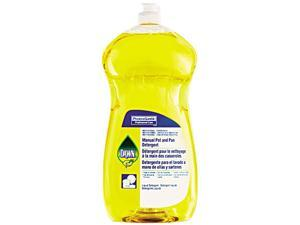 Manual Pot & Pan Dish Detergent, Lemon, 38oz Bottle, 8/Carton