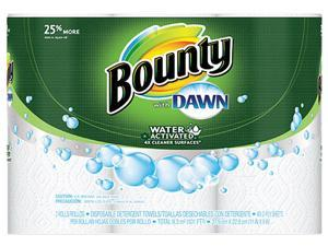 Procter & Gamble 92379 Bounty 92379CT Paper Towels with Dawn, 2-Ply, 11 x 14, 49/Roll, 24/Carton
