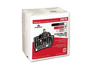 Brawny Industrial Med. Duty All Purpose Airlaid 1/4-Fold Wipers,13x13, 16/Carton