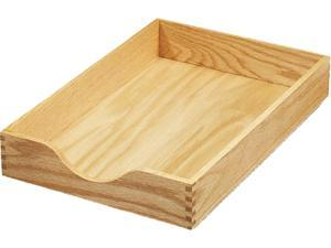 Carver 07221 Hardwood Legal Stackable Desk Tray, Oak