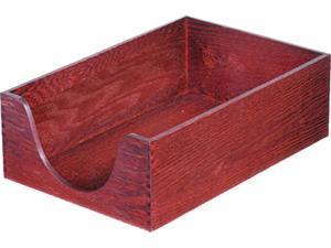Carver 08223 Hardwood Legal Stackable Desk Tray, Mahogany