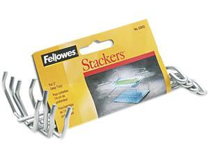 """Fellowes 63012 Desk Tray Stacking Posts for 3"""" Capacity Trays, Silver, Four Posts/Set"""
