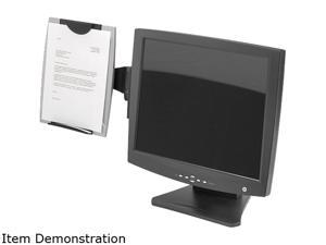 Fellowes 8033301 Office Suites Monitor Mount Copyholder, Plastic, Holds 150 Sheets, Black/Silver
