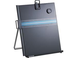 Kensington 62046 Letter-Size Freestanding Desktop Copyholder, Stainless Steel, Black