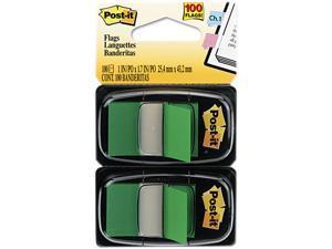 Post-it Flags 680-GN2 Standard Tape Flags in Dispenser, Green, 100 Flags/Dispenser