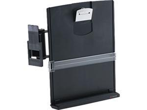 3M DH440MB Adjustable Monitor Mount Clip Copyholder, Plastic, 35 Sheet Capacity, Black