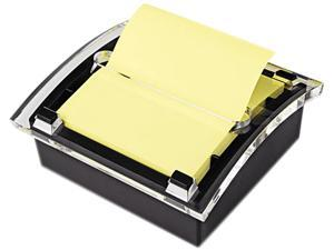 Post-it Pop-up Notes DS330-BK Clear Top Pop-up Note Dispenser for 3 x 3 Self-Stick Notes, Black