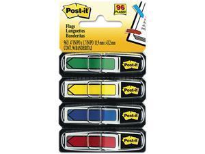 """Post-it Flags 684-ARR3 Arrow 1/2"""" Flags, Four Colors, 24/Color, 2 96-Flag Dispensers/Pack"""