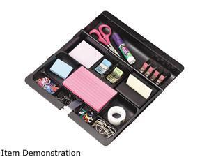 3M C-71 Recycled Plastic Desk Drawer Organizer Tray, Plastic, Black