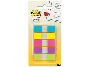 Post-it Flags 683-5CB Flags in Portable Dispensers, Bright Colors, 5 Dispensers of 20 Flags per Color