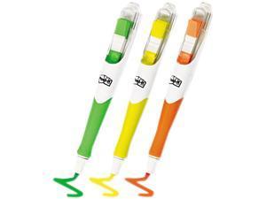 Post-it Flag + Highlighter 689-HL3FL Flag Highlighters, Yellow/Green/Orange, 50 Flags/Pen, 3/Pk