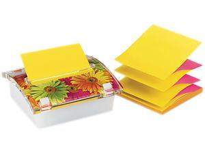 Post-it Pop-up Notes DS330-LSP Pop-up Note Dispenser with Designer Daisy Insert, One 45-Sheet Pad,