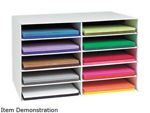 Pacon 001316 Classroom Construction Paper Storage, 10 Slots, 26 7/8 x 16 7/8 x 18 1/2