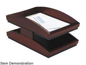 Rolodex 19260 Executive Woodline II Front Loading Letter Desk Tray, Two Tier, Wood, Mahogany