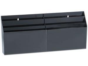 Rubbermaid 96060ROS Optimizers Six-Pocket Organizer, 24 5/8 x 2 3/4 x 11 1/2, Black