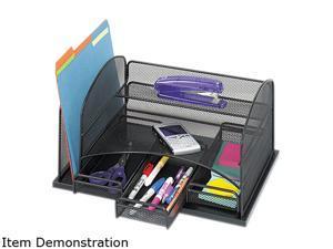 Safco 3252BL Three Drawer Organizer, Steel, 15 7/8 x 11 3/8 x 8