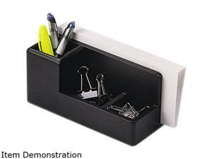 Rolodex 62537 Wood Tones Desk Organizer, Wood, 4 1/4 x 8 3/4 x 4 1/8, Black