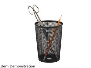 Rolodex 62557 Nestable Jumbo Wire Mesh Pencil Cup, 4 3/8 dia. x 5 1/8, Black